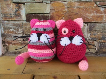 Handmade stuffed cats - children's toy
